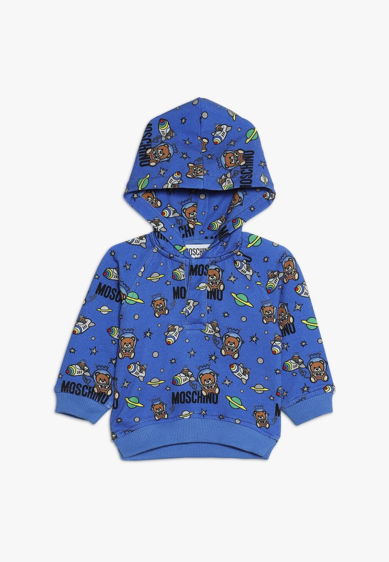 MOSCHINO - HOODED - Kapuzenpullover - bluette toy space
