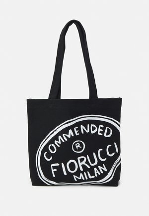 ILLUSTRATED COMMENDED TOTE BAG UNISEX - Shoppingväska - black