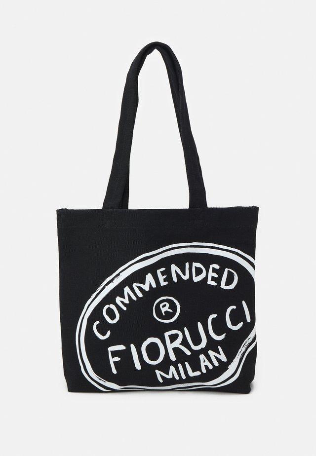 ILLUSTRATED COMMENDED TOTE BAG UNISEX - Shopper - black
