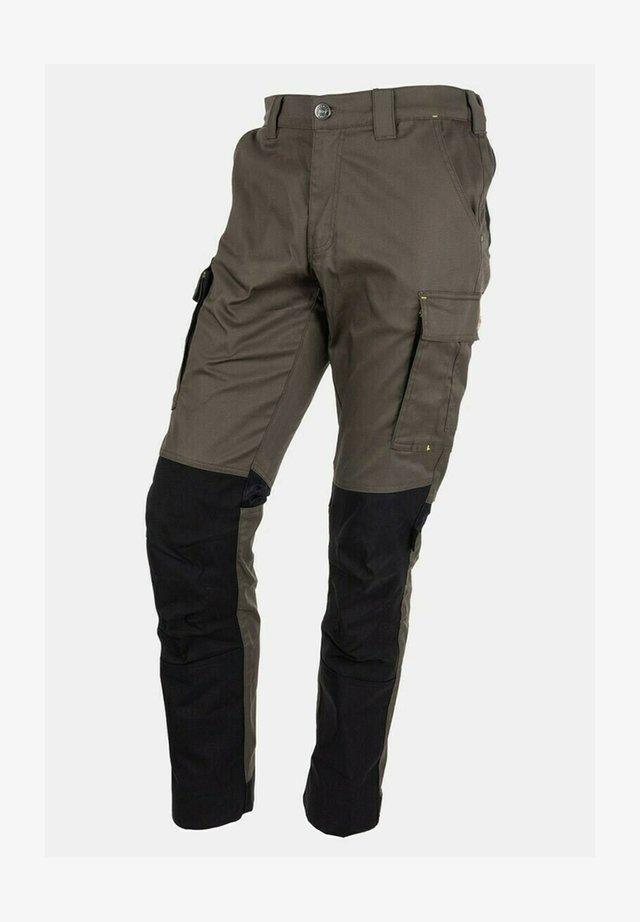 Cargo trousers - dunkel oliv