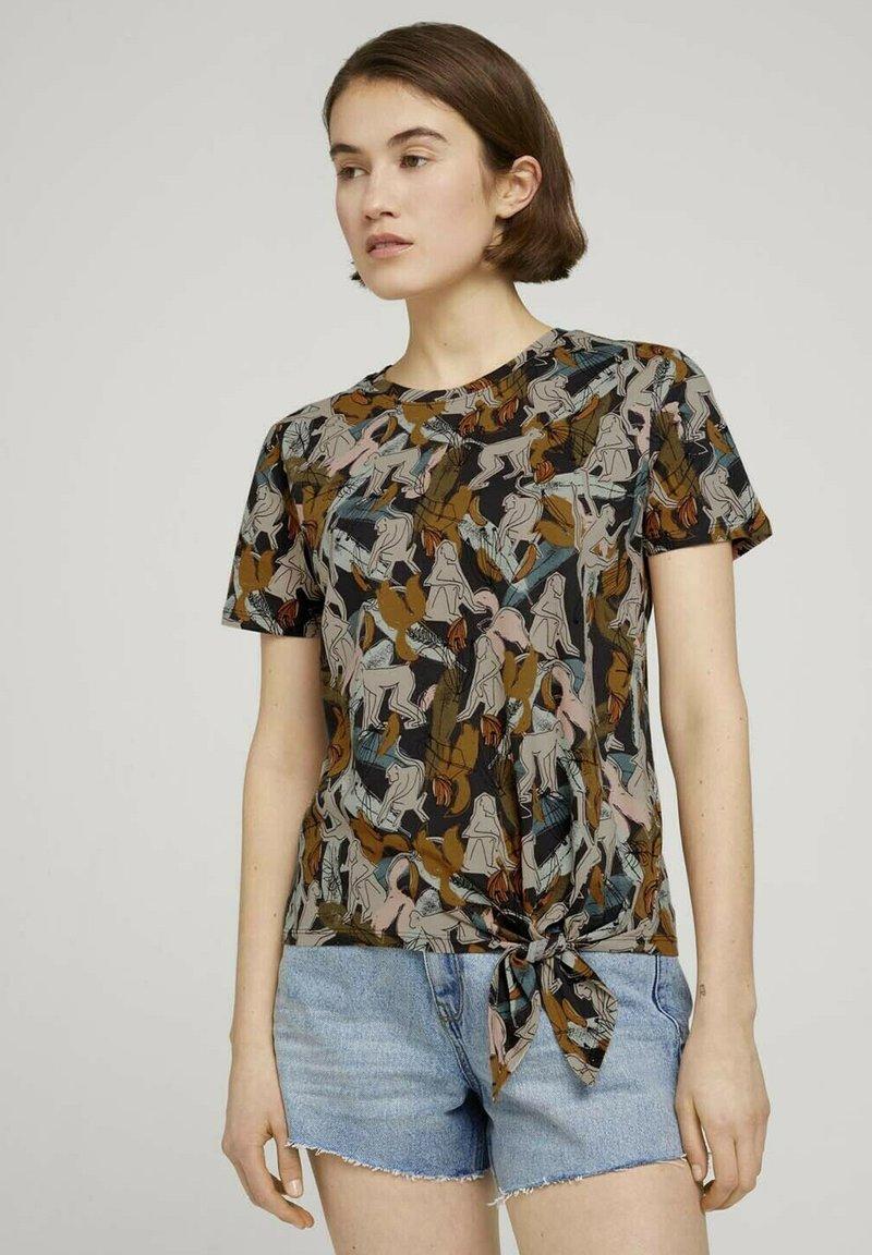 TOM TAILOR DENIM - Print T-shirt - abstract monkey print