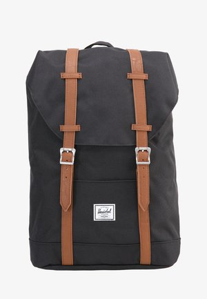 RETREAT - Mochila - black/tan