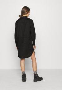 G-Star - MILARY V NECK SHIRT DRESS L\S - Vestido informal - black - 2