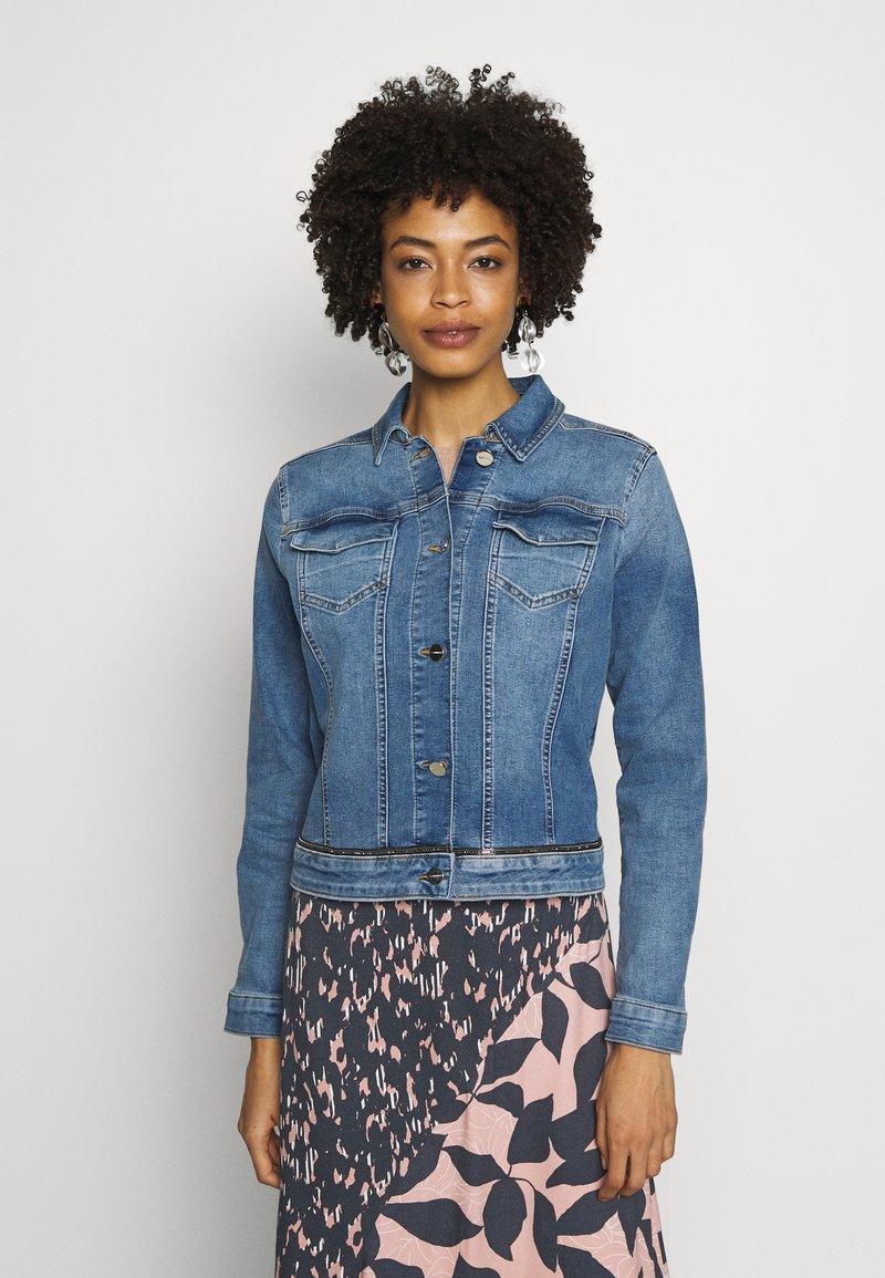 comma - JACKET - Denim jacket - blue denim stretch