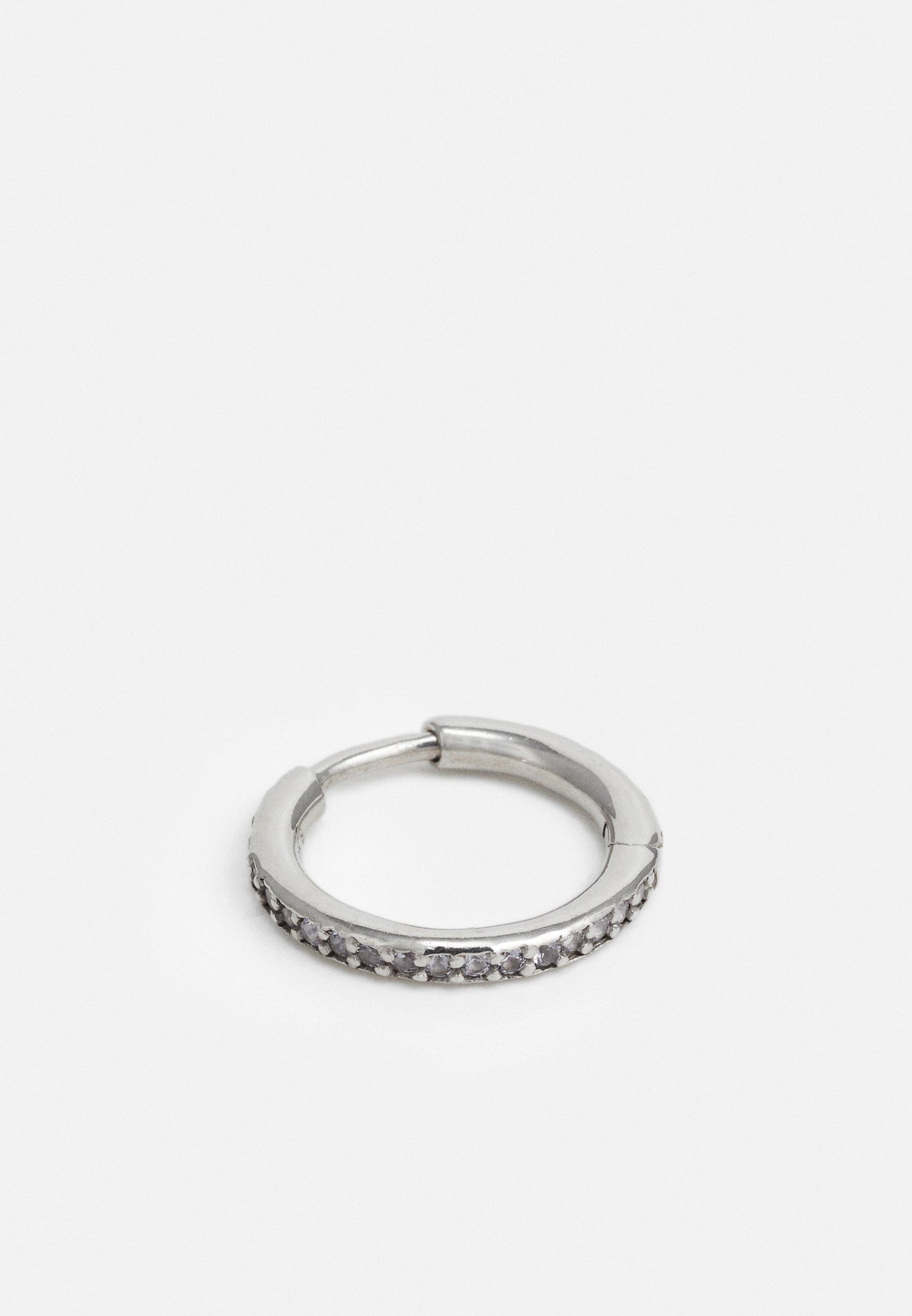 Maria Black Mica Huggie - Ohrringe Silver-coloured/silber