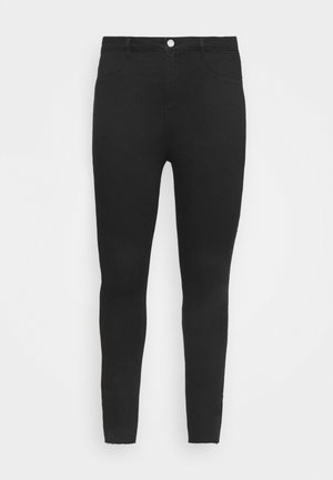 LAWLESS SLASH KNEE HIGHWAISTED - Skinny-Farkut - black