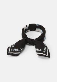 KARL LAGERFELD - GRAFITI LOGO SCARF - Foulard - black/white - 0