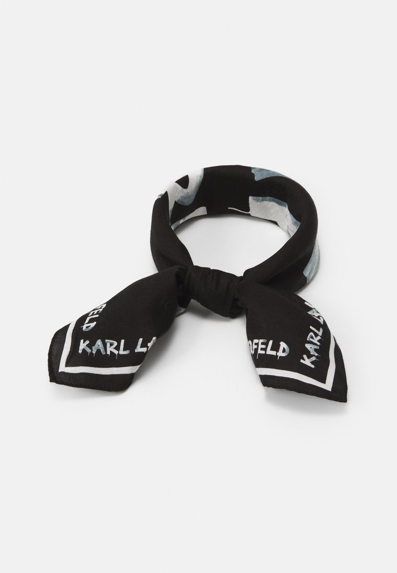 KARL LAGERFELD - GRAFITI LOGO SCARF - Foulard - black/white
