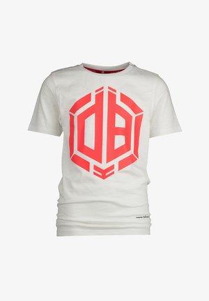 HALLIS - Print T-shirt - real white
