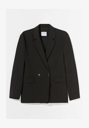 MIT KNÖPFEN  - Short coat - black