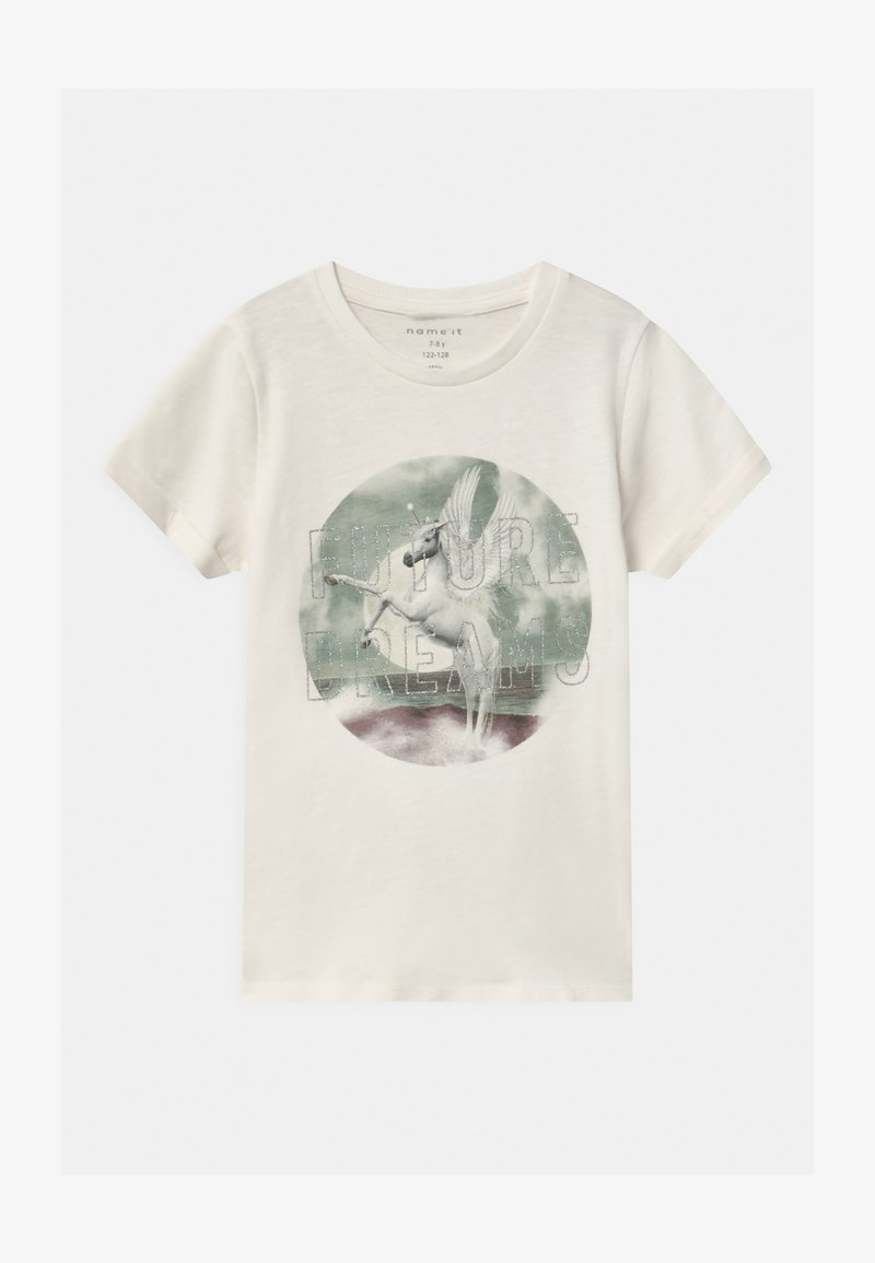 Name it - NKFTHEAIA - Print T-shirt - snow white