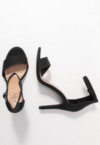 Call it Spring - DELLMAR VEGAN - Korolliset sandaalit - black - 3