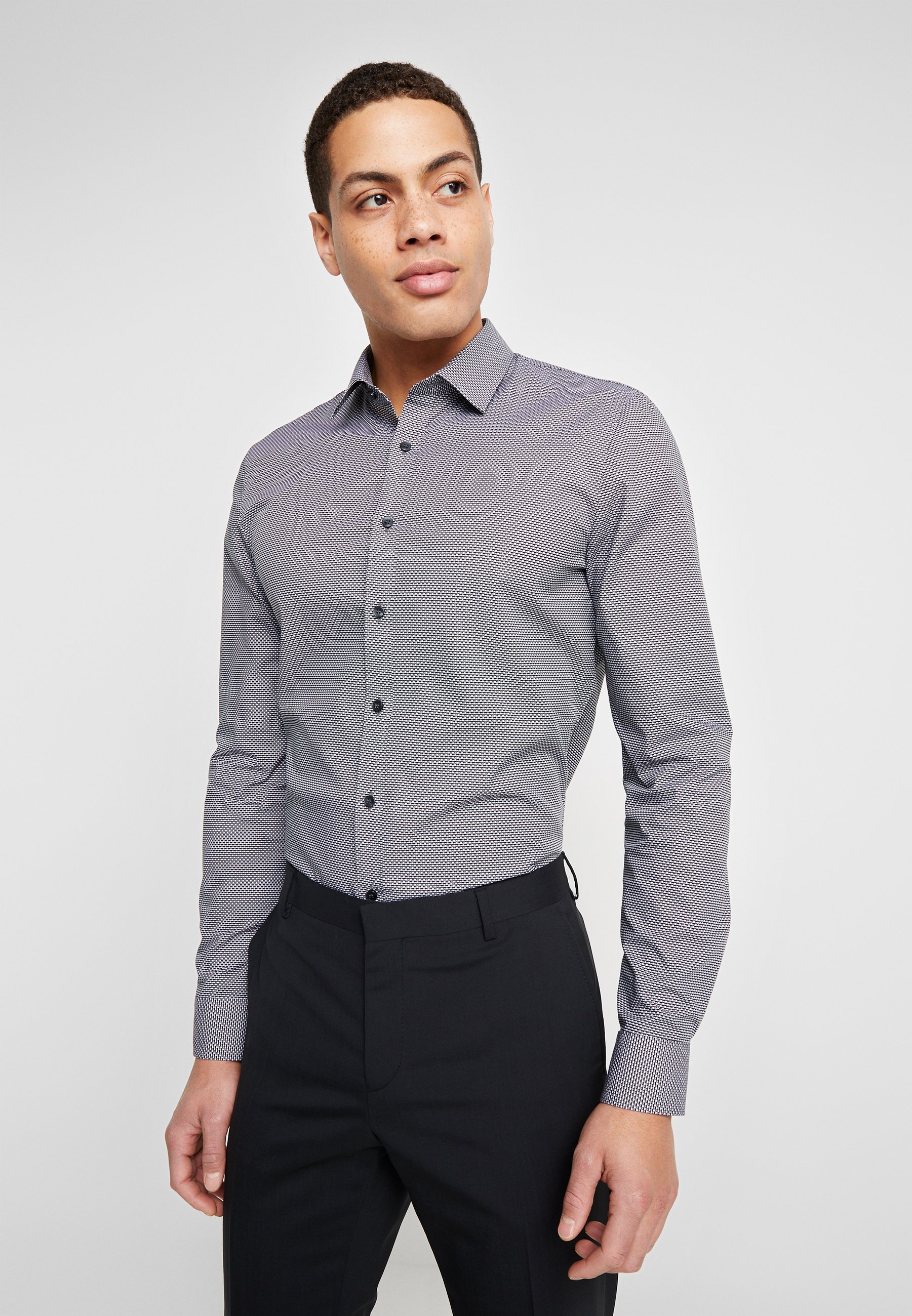 OLYMP OLYMP NO.6 SUPER SLIM FIT Skjorte grey Zalando.no