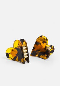 Valet Studio - MINI HEART CLIPS - Hair styling accessory - brown - 2