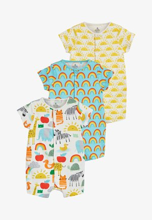 YELLOW 3 PACK GOTS ORGANIC SUNSHINE RAINBOW ROMPERS (0MTHS-3YRS) - Jumpsuit - yellow