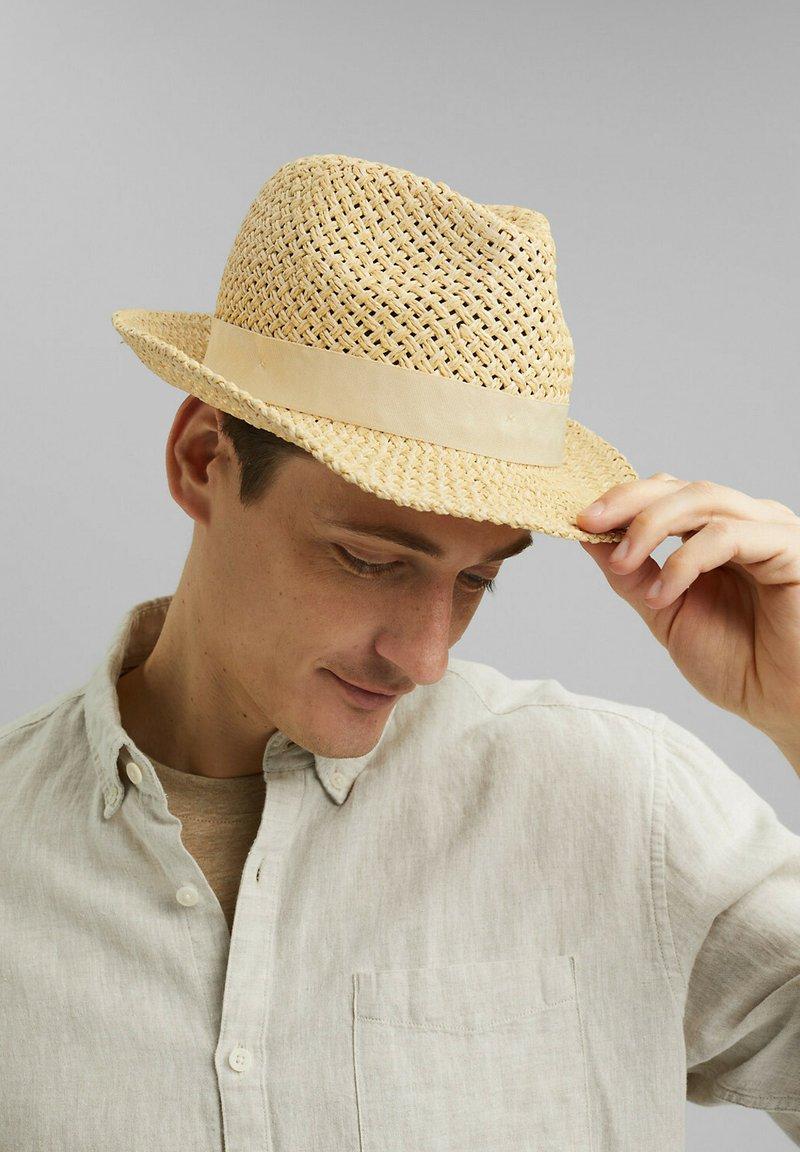 Esprit - MIT RIPSBAND - Hat - beige