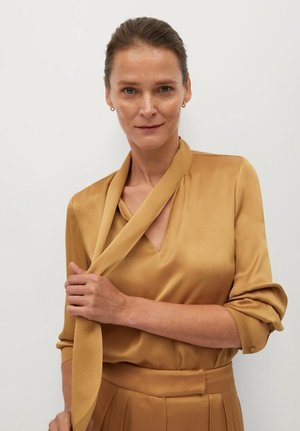 SATIN-A - Blouse - ocre