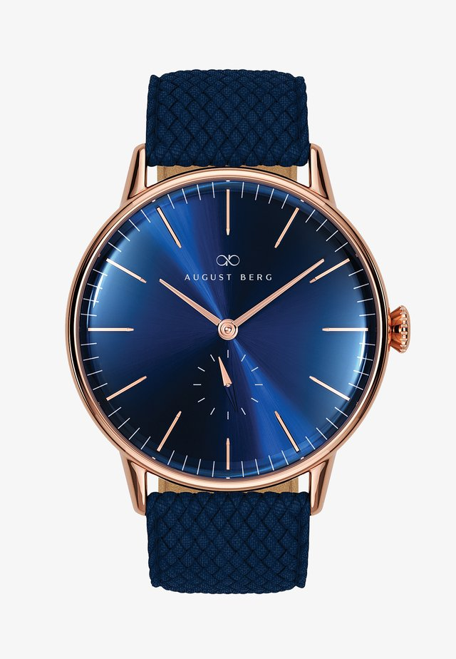 UHR SERENITY DEEP BLUE EYE BLUE PERLON 40MM - Orologio - sunray blue