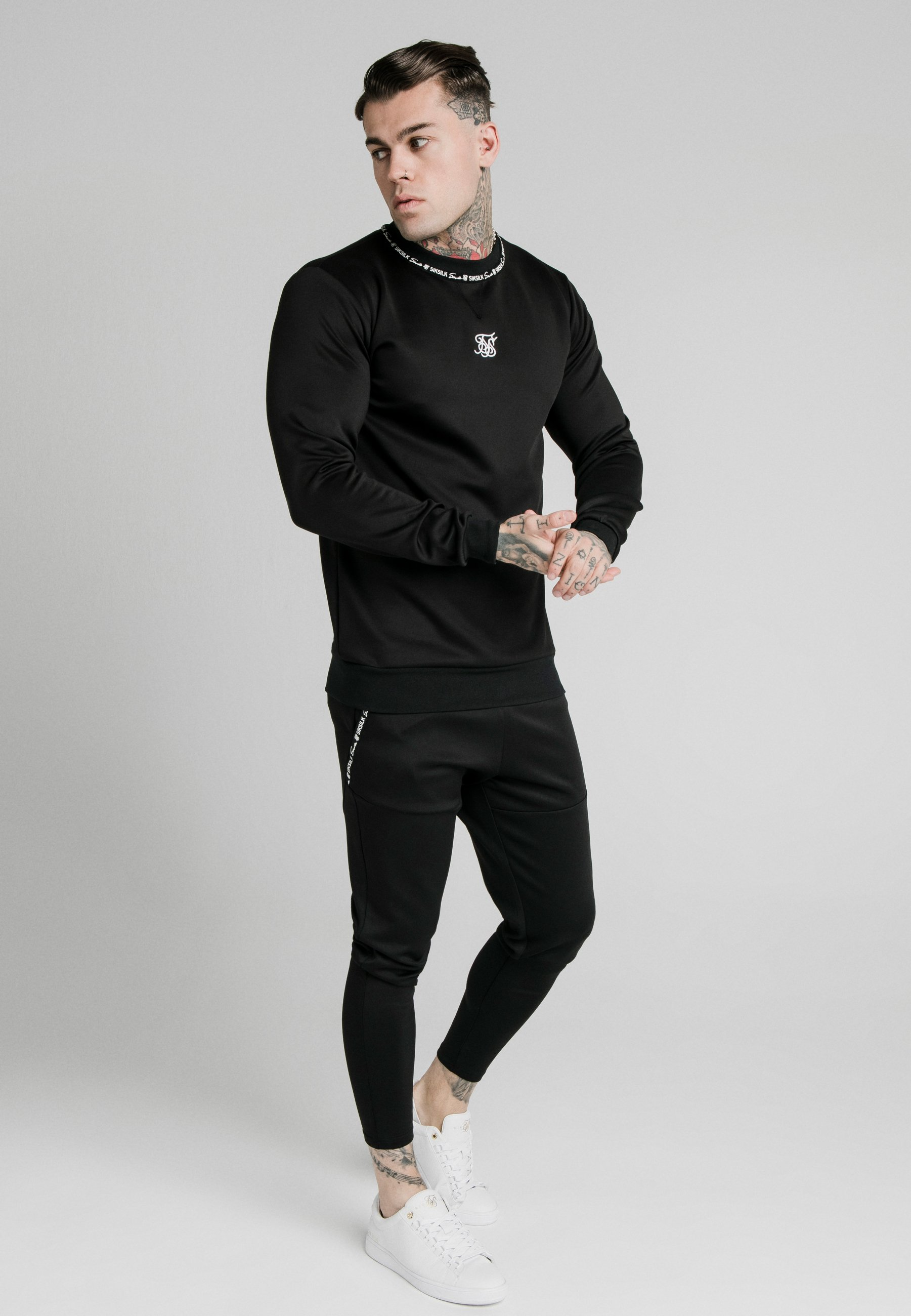 Siksilk Function Track Pants - Joggebukse Black/svart