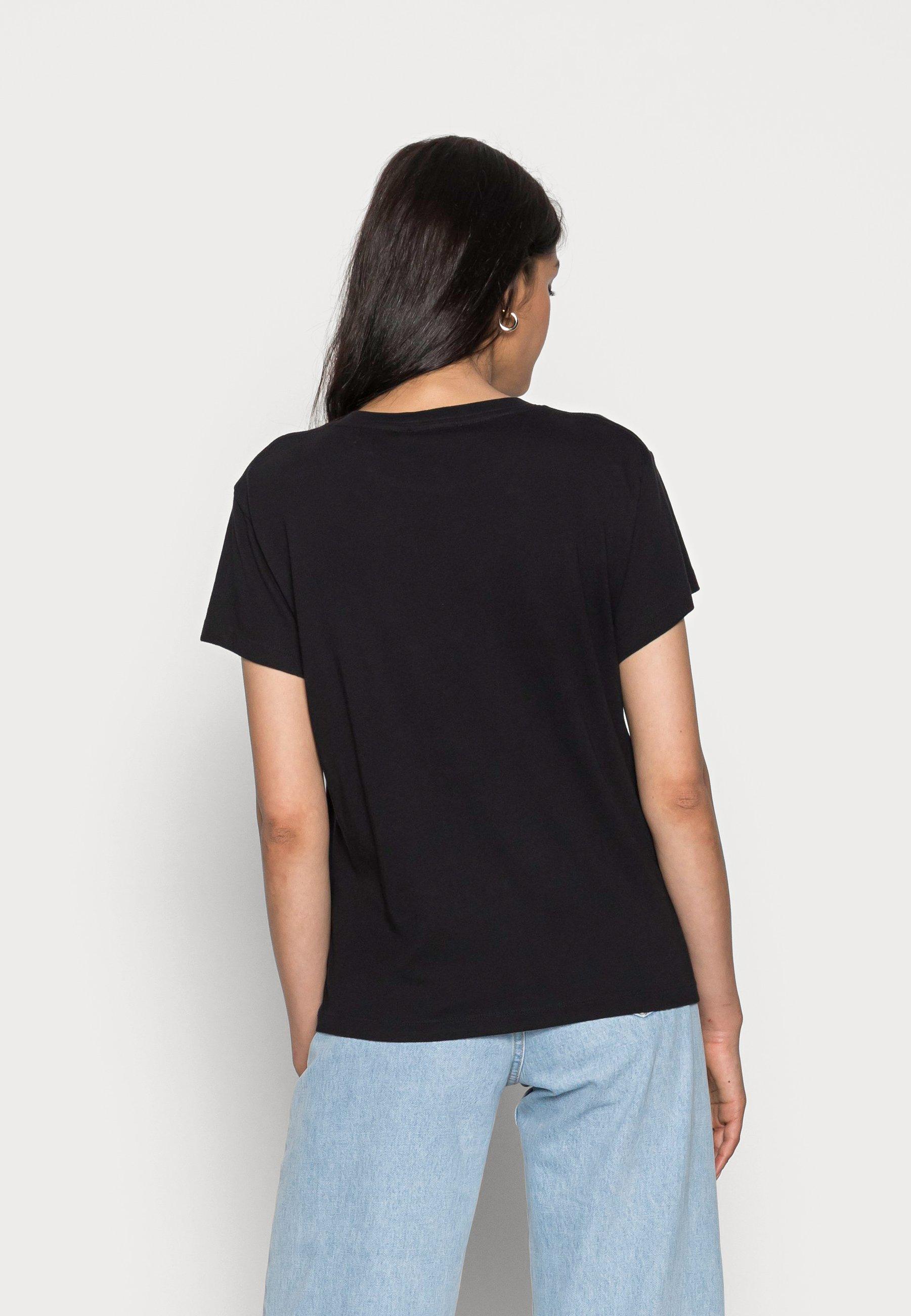 Women SHORT SLEEVE ROUND NECK PLACED PRINT - Print T-shirt