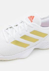 adidas Performance - COURT CONTROL  - Multicourt tennis shoes - footwear white/gold metallic/solar red - 5