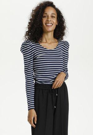 KAKAYLI LIDDY - Long sleeved top - midnight w. chalk stripe