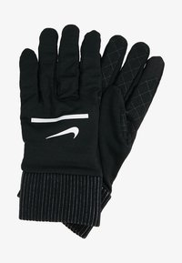 Nike Performance - HEATHERED SPHERE RUNNING GLOVES - Fingervantar - black/silver - 2