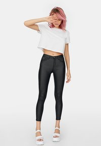 Stradivarius - Trousers - black - 0