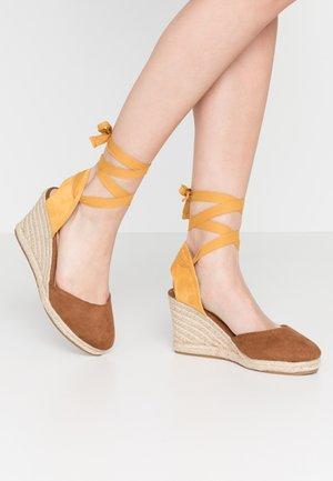 NEW PALMER - High heeled sandals - mostaza