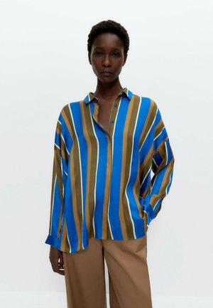 Button-down blouse - mustard yellow/blue