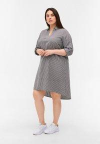 Zizzi - Day dress - black stripe - 1