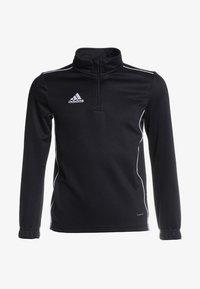 adidas Performance - CORE 18 TRAINING TOP - Sports shirt - black/white - 0