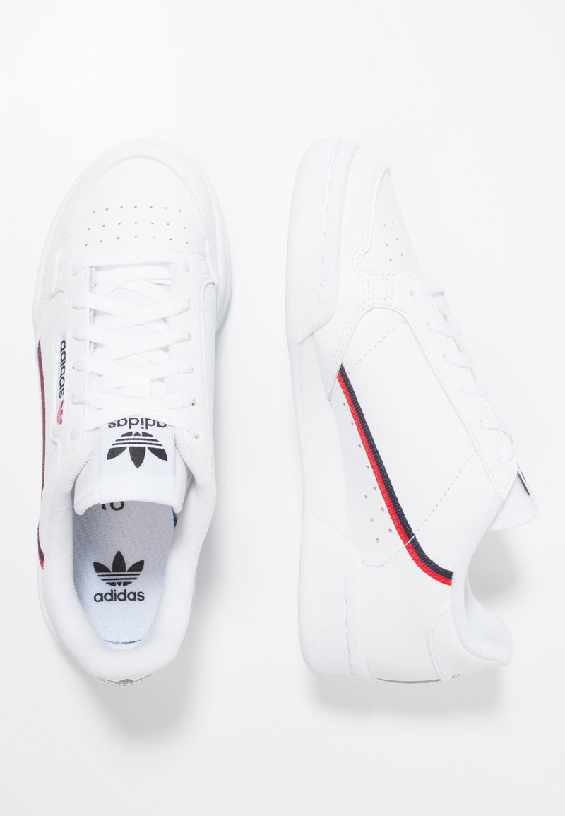 adidas Originals - CONTINENTAL 80 - Trainers - footwear white/scarlet/collegiate navy