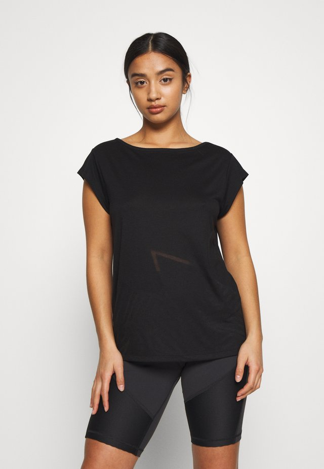 ONPMAGDALENA BURNOUT TEE PETITE - T-shirt imprimé - black