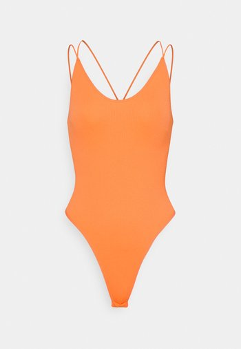 STRAPPY BUNGEE BODY THONG STRAP - Top - melon
