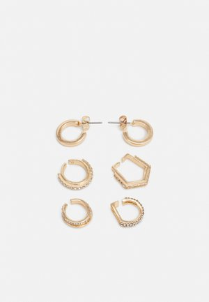 PCMULLI EARRINGS 5 PACK - Náušnice - gold-coloured/clear