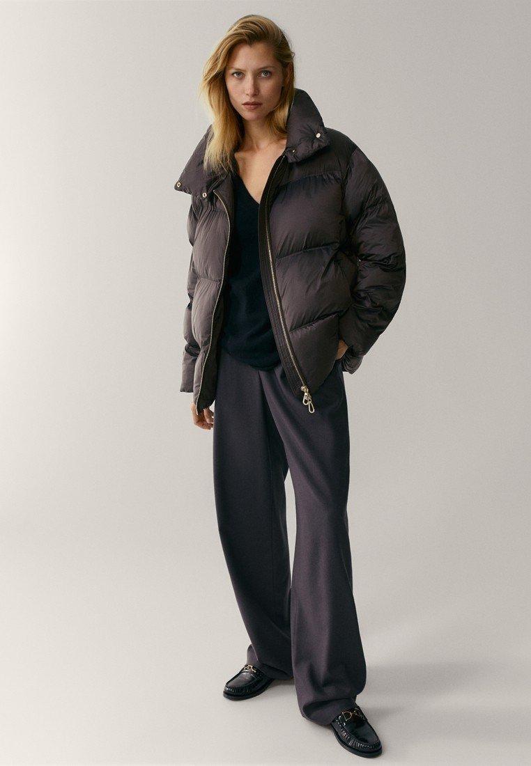 Massimo Dutti - OVERSIZE-STEPPJACKE - Winter jacket - brown
