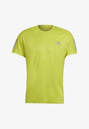 RESPONSE PRIMEGREEN RUNNING SHORT SLEEVE TEE - Print T-shirt - yellow