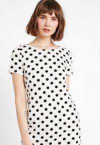 Vila - VITINNY - Shift dress - snow white/black - 3