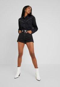 Levi's® - DORI WESTERN - Button-down blouse - black sheep - 1