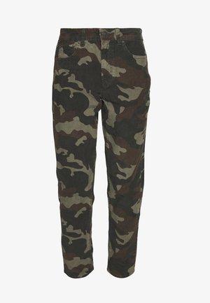 PRINTED CORD MOM JEAN - Trousers - camo green