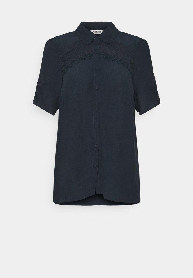 THAMA - Button-down blouse - bleu marine