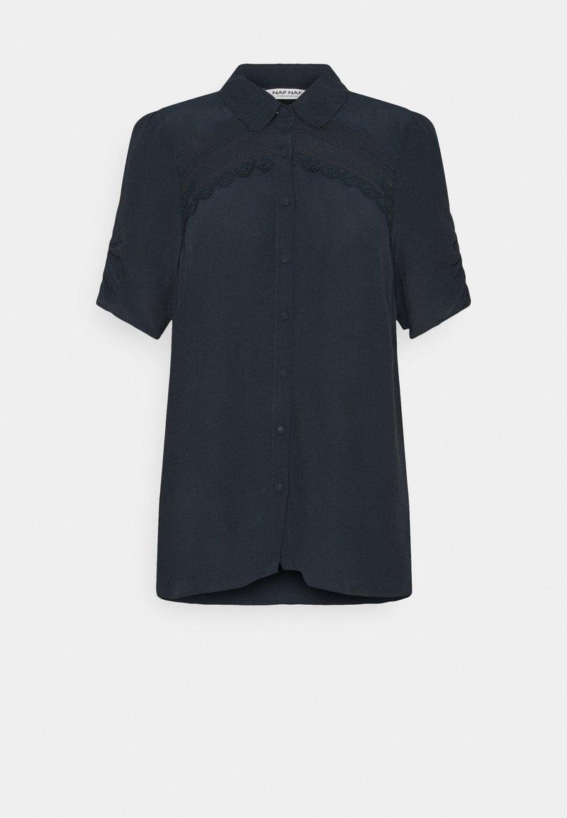 NAF NAF - THAMA - Button-down blouse - bleu marine
