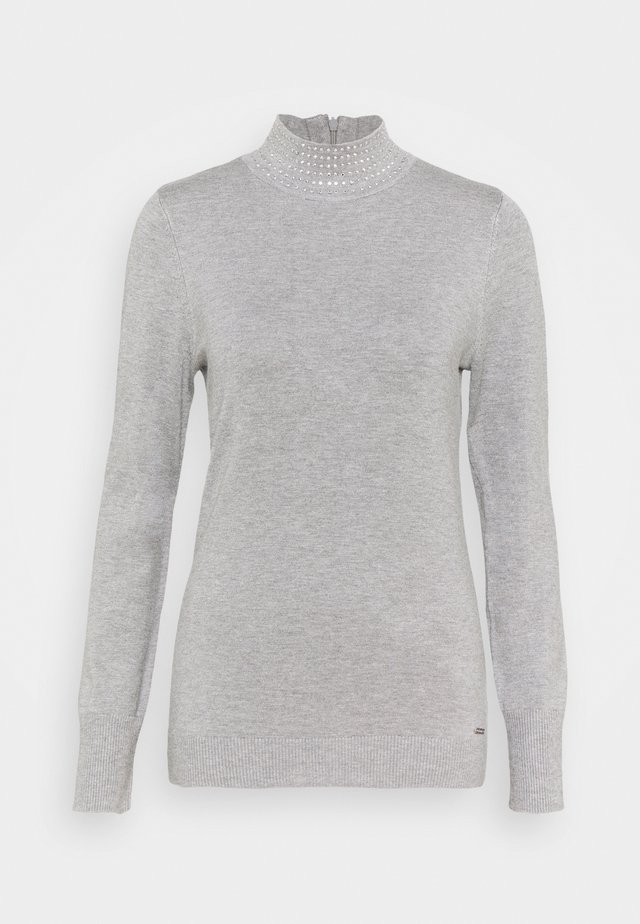 NAILHEAD TURTLENECK  - Pullover - avenue grey