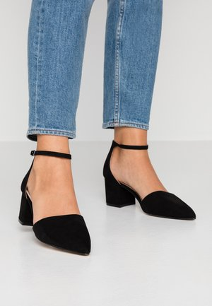 WIDE FIT BIADIVIDED - Tacones - black
