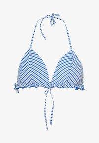 FIXED TRIANGLE - Bikini top - seersucker blue