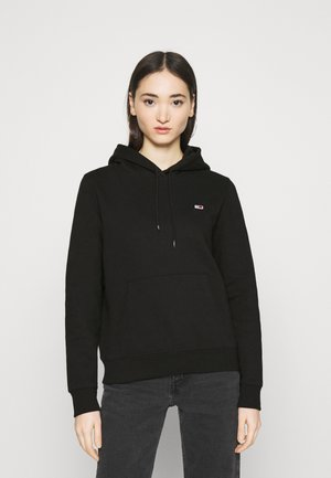 REGULAR HOODIE - Bluza z kapturem - black