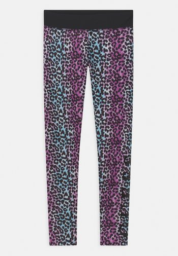 Leggings - multi-coloured/lilac