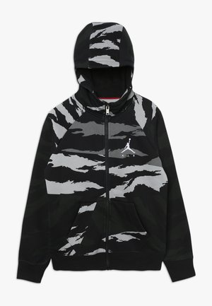 WINGS FULL ZIP CAMO - Felpa aperta - black