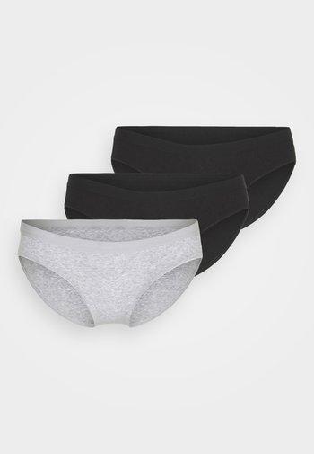 BODYLEG 3 PACK - Briefs - black/grey marle